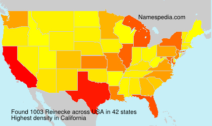 Surname Reinecke in USA