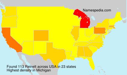 Surname Reinelt in USA