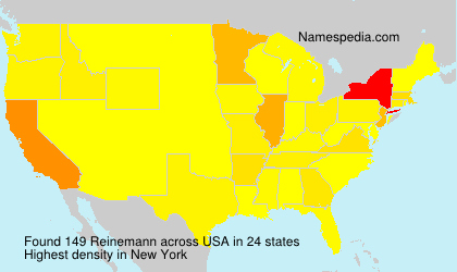 Surname Reinemann in USA