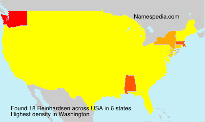Surname Reinhardsen in USA