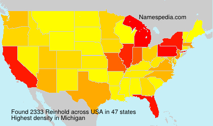 Surname Reinhold in USA
