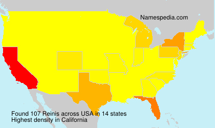 Surname Reinis in USA