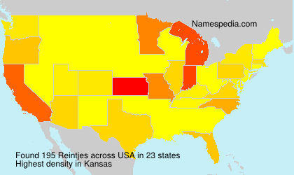 Surname Reintjes in USA