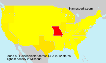 Surname Reisenbichler in USA