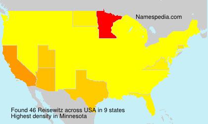 Surname Reisewitz in USA