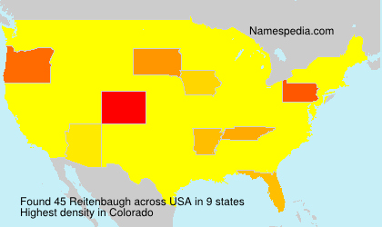Surname Reitenbaugh in USA