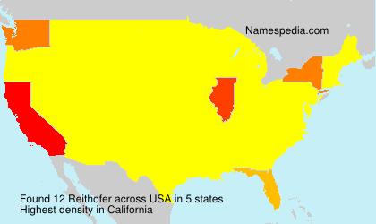 Surname Reithofer in USA