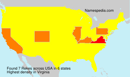Surname Rekes in USA