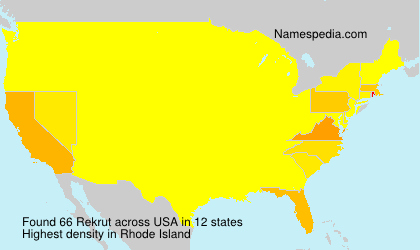 Familiennamen Rekrut - USA