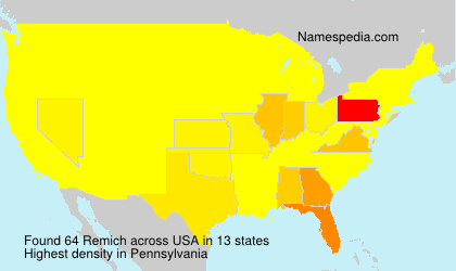 Surname Remich in USA