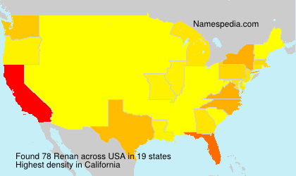 Surname Renan in USA