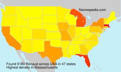 Surname Renaud in USA