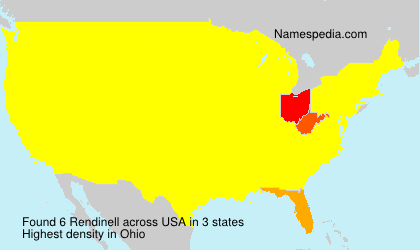 Surname Rendinell in USA