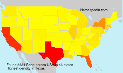 Surname Rene in USA