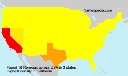 Surname Reneaux in USA