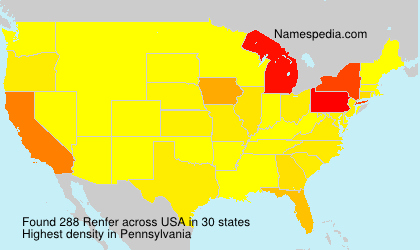 Surname Renfer in USA
