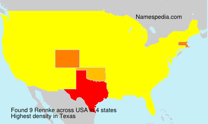 Surname Rennke in USA