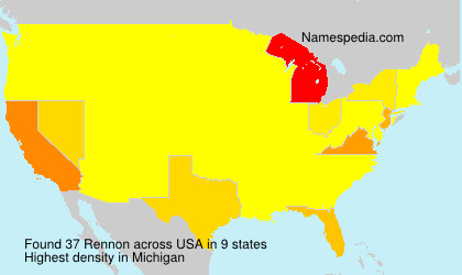 Surname Rennon in USA
