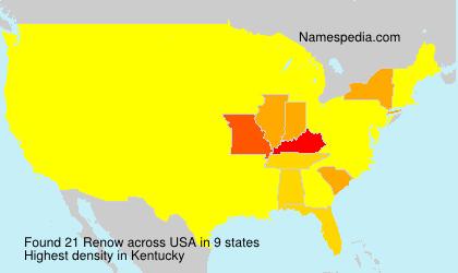Familiennamen Renow - USA