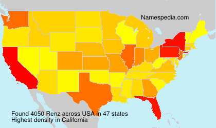 Surname Renz in USA