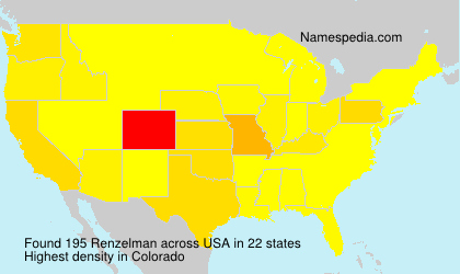 Surname Renzelman in USA