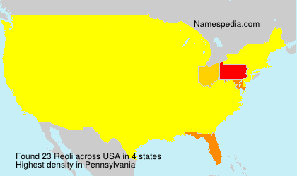 Surname Reoli in USA