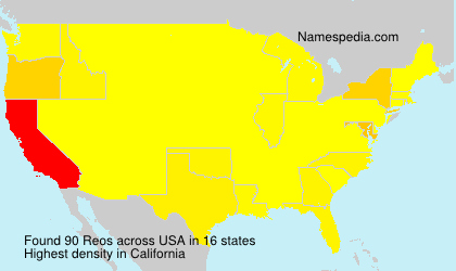 Surname Reos in USA