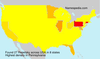 Surname Repetsky in USA