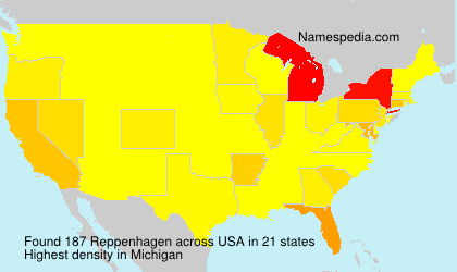 Surname Reppenhagen in USA