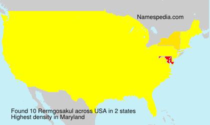 Familiennamen Rermgosakul - USA