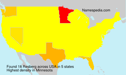 Surname Resberg in USA