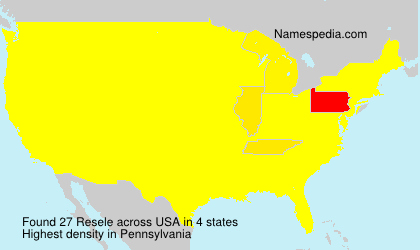 Surname Resele in USA