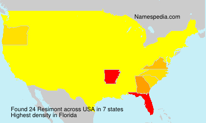 Surname Resimont in USA