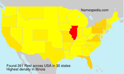 Surname Rest in USA