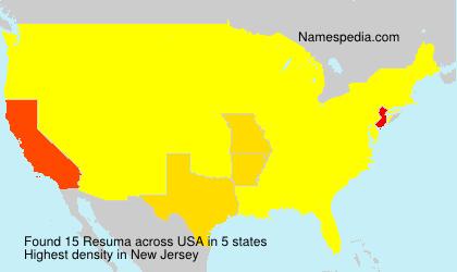 Surname Resuma in USA