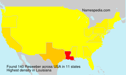Surname Resweber in USA