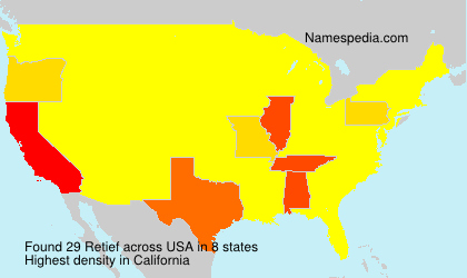 Surname Retief in USA