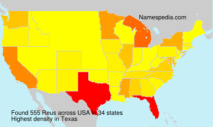 Surname Reus in USA