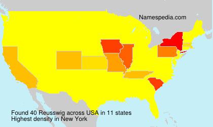 Surname Reusswig in USA