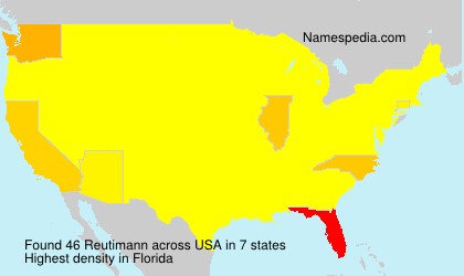 Surname Reutimann in USA