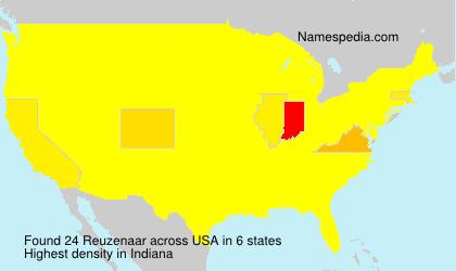 Familiennamen Reuzenaar - USA