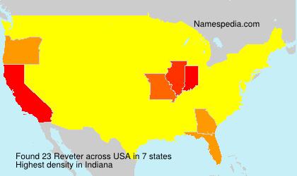 Familiennamen Reveter - USA