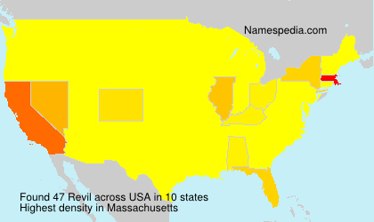 Surname Revil in USA