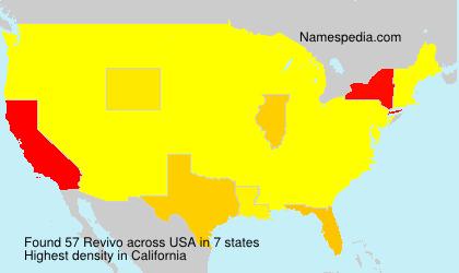 Surname Revivo in USA