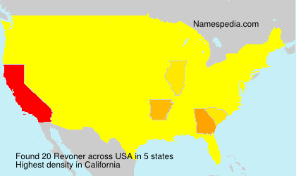 Surname Revoner in USA
