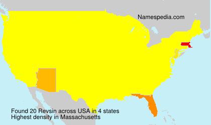 Surname Revsin in USA