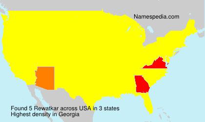 Surname Rewatkar in USA