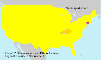 Surname Rewenko in USA