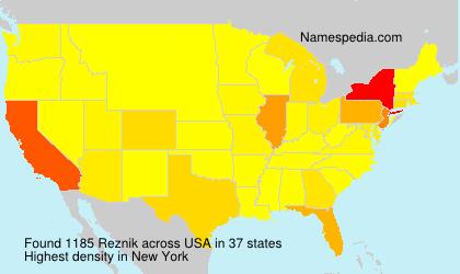 Familiennamen Reznik - USA