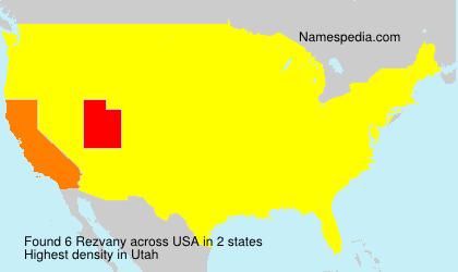 Familiennamen Rezvany - USA